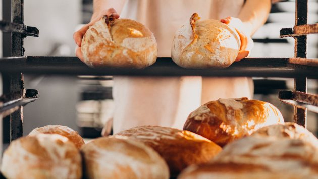 Bread baking industry, tasty pastry